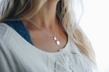 Lucy. Mini Sterling Silver Square Necklace