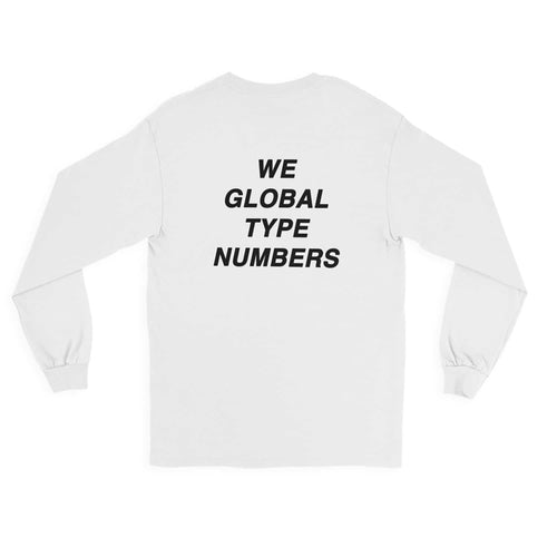 Andy Mineo 'Global Type Numbers' Long Sleeve Tee