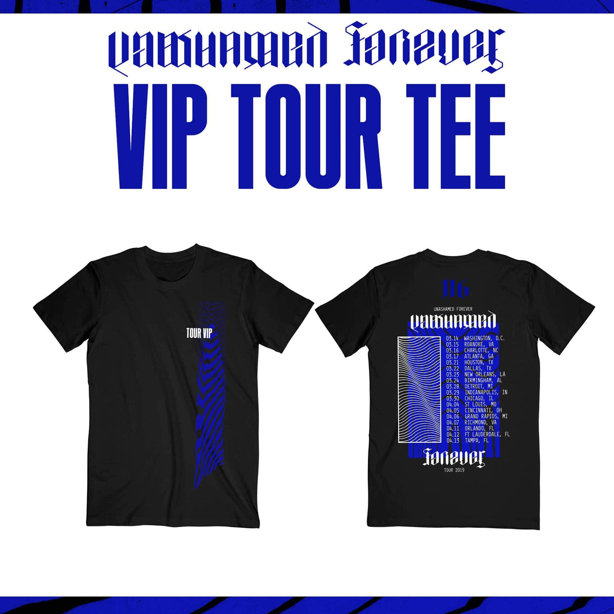 Unashamed Forever Tour - DIAMOND VIP - Roanoke, VA - 03/15