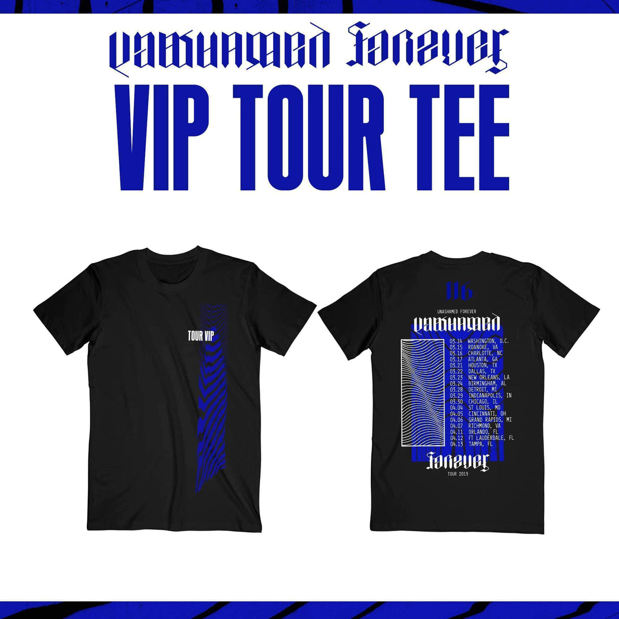 Unashamed Forever Tour - DIAMOND VIP - Detroit, MI - 03/28