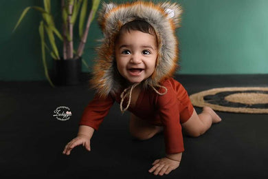 Fox romper, woodland, 9-12 months size, orange, pre order
