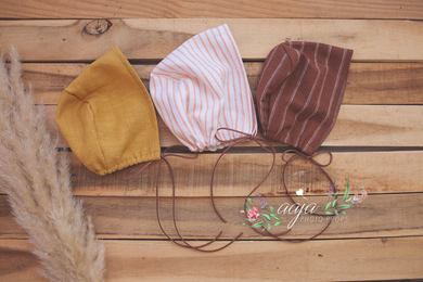 Baby boy or girl 3-6 or 6-12 months size, vintage style, bonnet, boho, vintage, rust, mustard, RTS