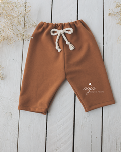Baby 9-12 months size trousers pants/shorts, cream, brown, sage, RTS