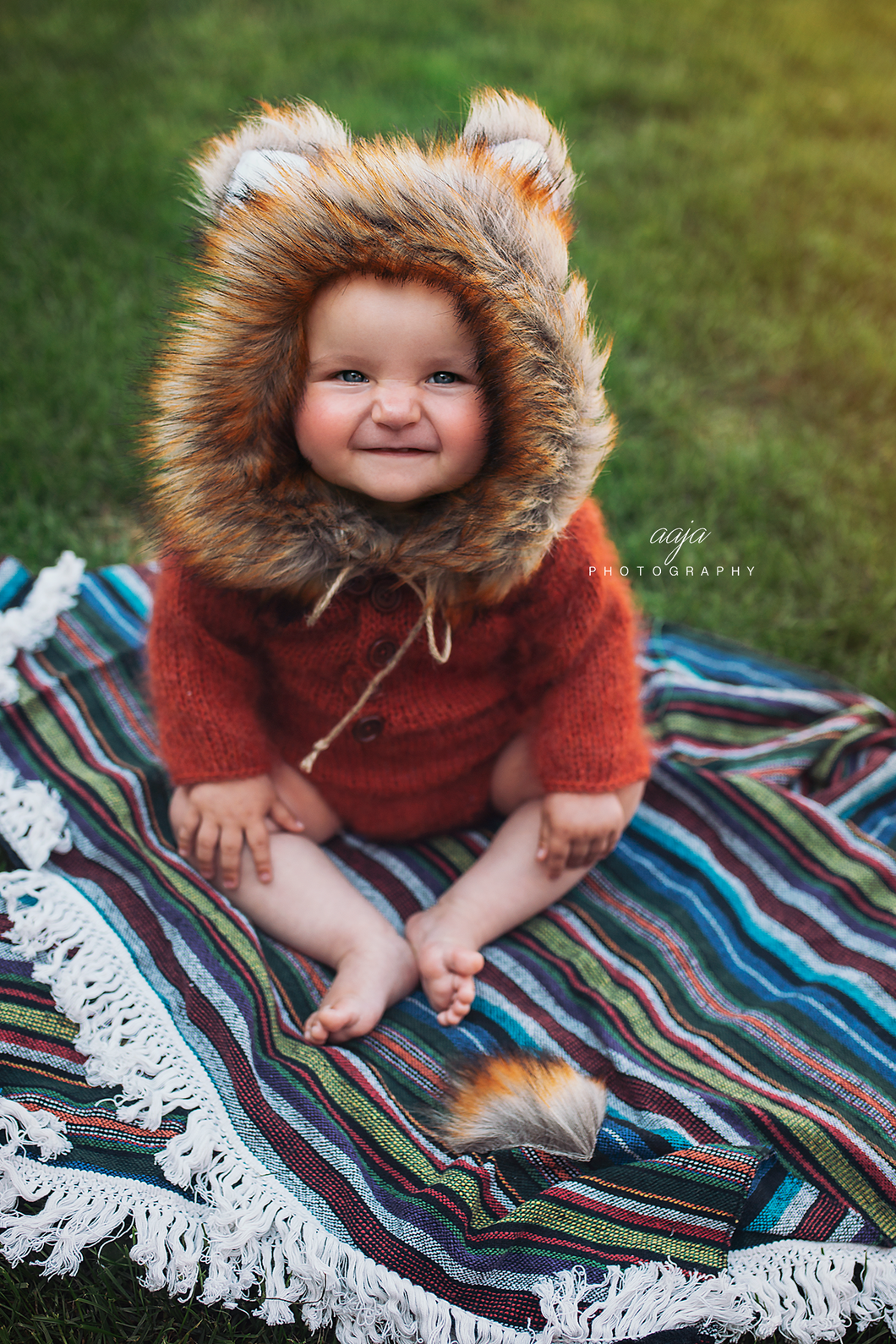 Knitted fox romper, mohair, woodland, 9-12 months size, made to order