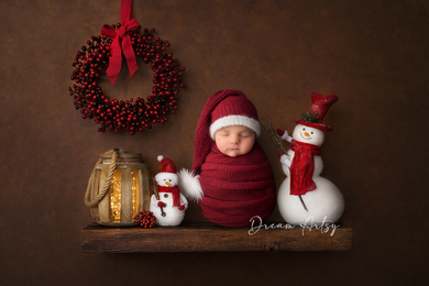 Dark Red, long knitted wrap and hat set, newborn baby, fur pom pom, pre order