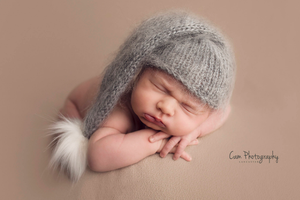 Baby newborn fluffy mohair hats, long hair, mustard, grey, white, fur, made to order