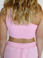 One Shoulder Top - Blush