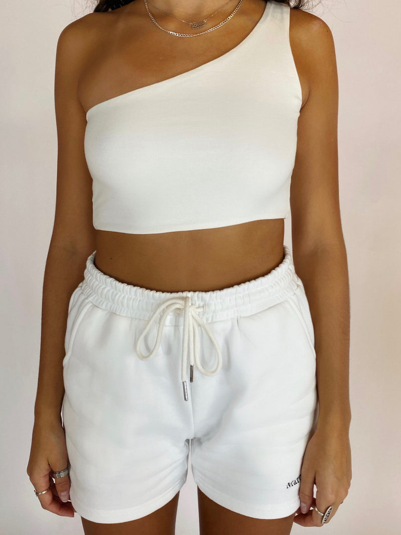 One Shoulder Top - Off White