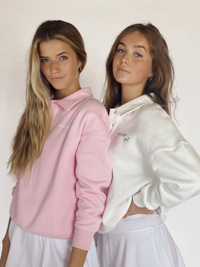 Blush Collard Sweatshirt