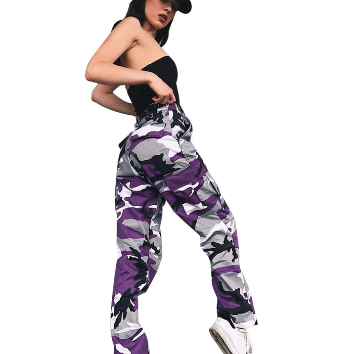 Women Sports Cargo Pants Casual Camouflage