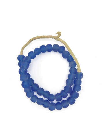 BLUE GLASS SEA BEADS