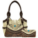 Western Carving Turquoise Concho Tote Purse Wallet Set