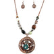 Hammered Plate 12 Gauge Shotgun Shell Hide Your Crazy Beaded Pendant Necklace Earring Set