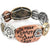 Hammered Plate Hide Your Crazy Act Like a Lady 12 Gauge Shotgun Shell Stretch Bracelet