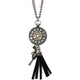 Vintage Shotgun Shell Bullet Pistol Tassel Pendant Necklace with Earrings Set