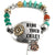 Hammered Plate Hide Your Crazy 12 Gauge Shotgun Shell Crystal Beaded Stretch Bracelet