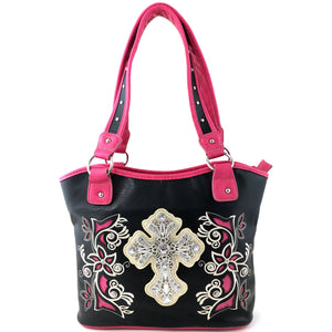 Floral Bloom Embroidery Cross Crossbody