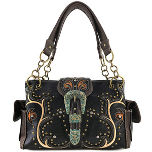 Patina Girl Western Buckle Handbag