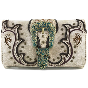 Patina Girl Western Buckle Wallet