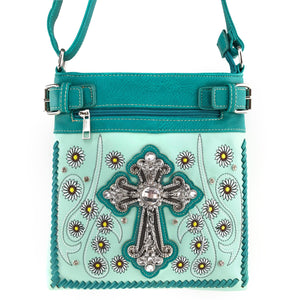 Daisy Flower Garden Cross Tote Purse Crossbody