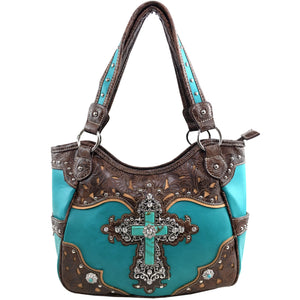 Turquoise Cross Western Tote Purse
