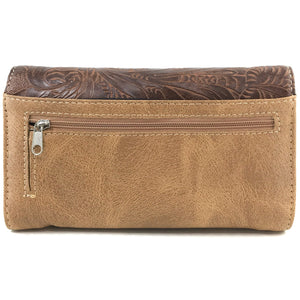American Horse Tooled Wallet