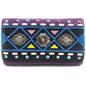 Concho Native Textile Pattern Wallet
