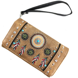 Dream Catcher Feather Wallet