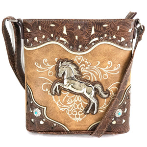 American Horse Tooled Crossbody