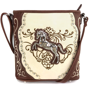 American Horse Floral Crossbody