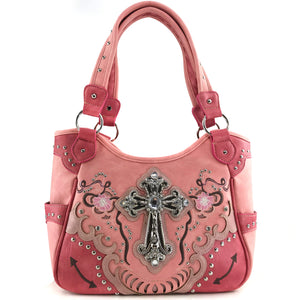 Poppy Flower Cross Tote Purse