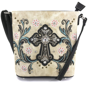 Blossom Floral Embroidery Cross Crossbody