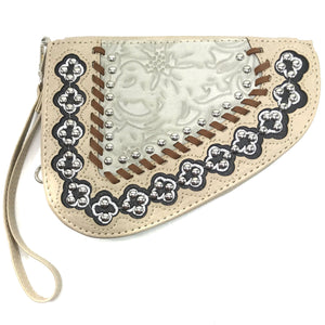 Flower Studs Floral Gun Shaped Crossbody Pouch