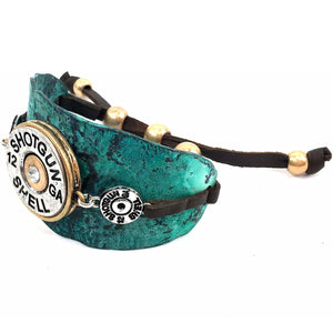 Western 12 Gauge Shotgun Shell Adjustable Cuff Bracelet