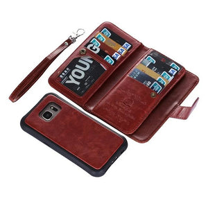 2-Piece Leather Wallet with Removable Phone Case (Maxx Version) - Galaxy Card Cases