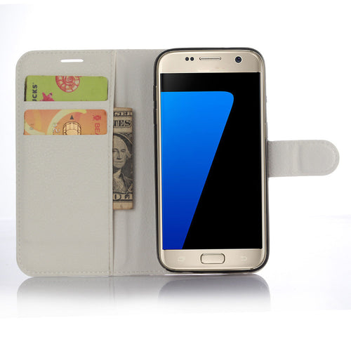Leather Silicone Card Case Protector For Samsung Galaxy S7 Phone - Galaxy Card Cases