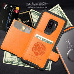 Luxury Slim Phone Smart Flip Wallet Cover Galaxy S9 Plus Note 9 - Galaxy Card Cases