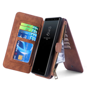 Samsung Galaxy S7 Leather  Zipper Wallet - Galaxy Card Cases