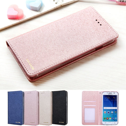 Leather Card Case For Samsung Galaxy S6 Edge - Galaxy Card Cases