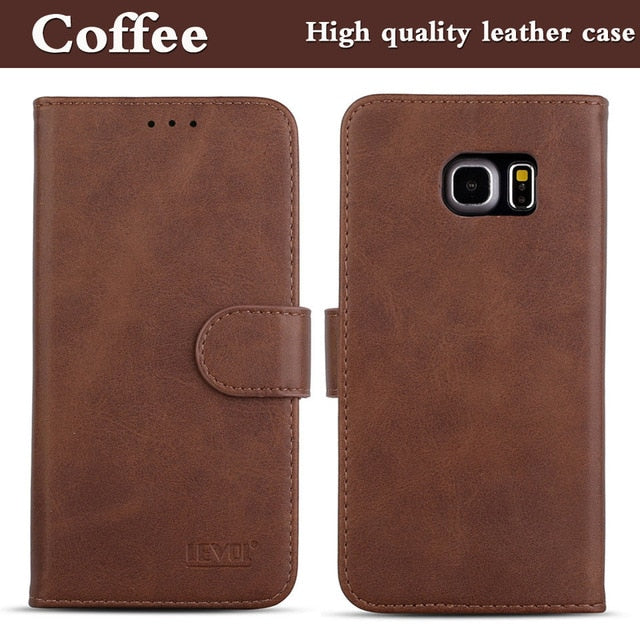 Samsung Galaxy S6 Magnetic Flip Leather Wallet Case - Galaxy Card Cases