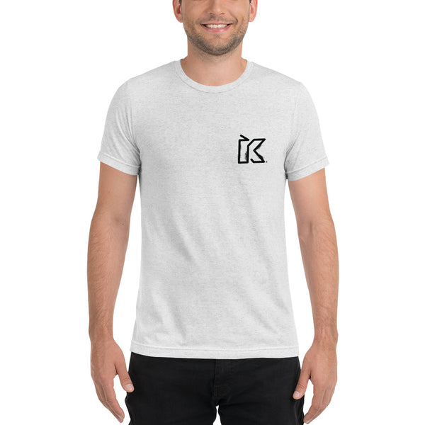Kush Supply Distressed K Left Chest Triblend Tee - Light Colors