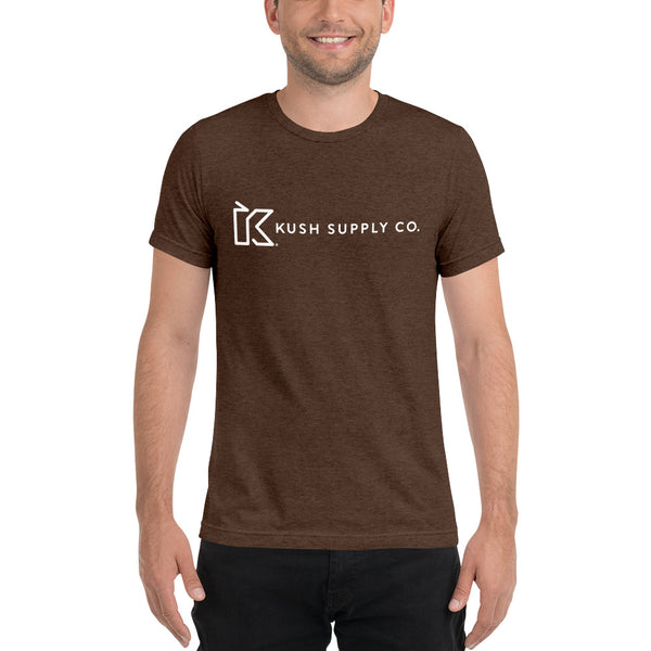 Kush Supply Co Center Chest Triblend Tee - Dark Colors