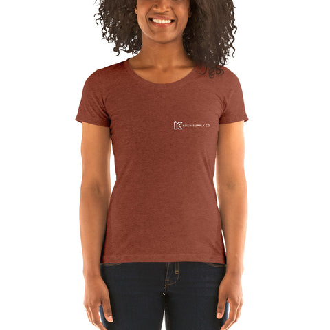 Kush Supply Co Left Chest Ladies Triblend Tee - Dark Colors