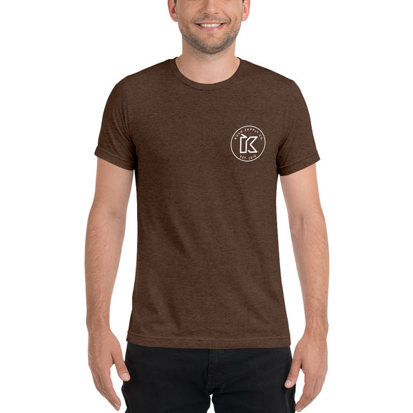 Kush Supply Co Circle Logo Left Chest Triblend Tee - Dark Colors