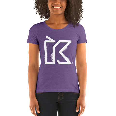 Kush Supply Distressed K Ladies Triblend Tee - Dark Colors