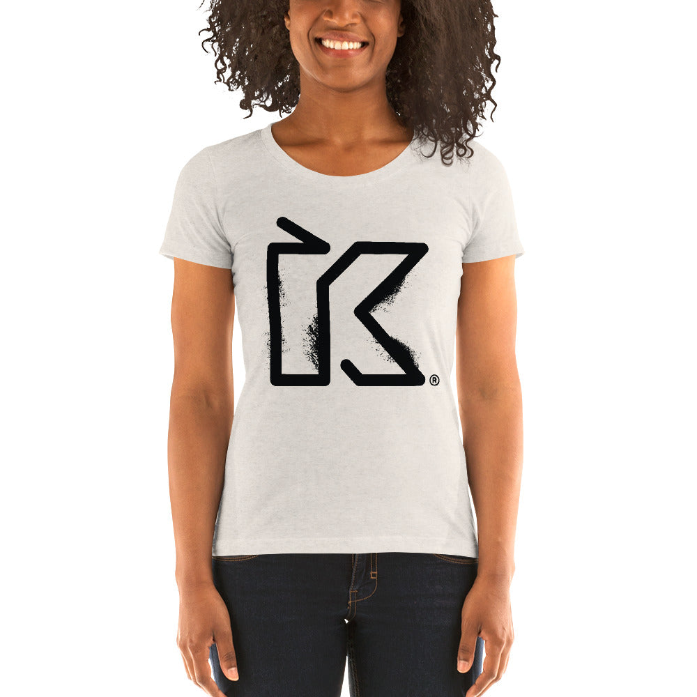 Kush Supply Distressed K Ladies Triblend Tee - Light Colors