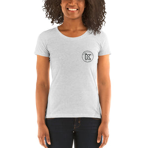 Kush Supply Co Circle Logo Left Chest Ladies Triblend Tee - Light Colors