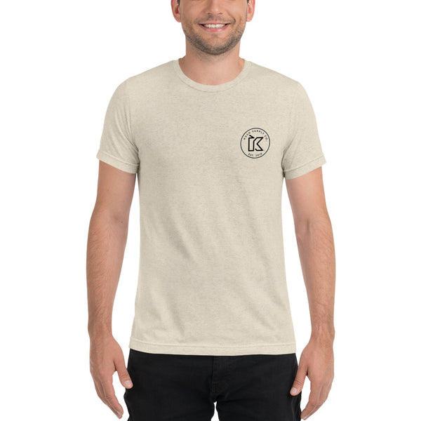 Kush Supply Co Circle Logo Left Chest Triblend Tee - Light Colors