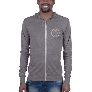 Kush Supply Co Circle Left Chest Unisex Lightweight Zip Hoodie