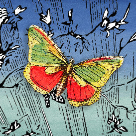 FRENCH BUTTERFLIES long rectangle size
